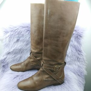 Chloe Saturina tall flat slouched leather boot